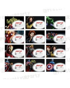 Avengers Inspired Book Name Labels