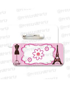 Paris Inspired Badge / Name Tag