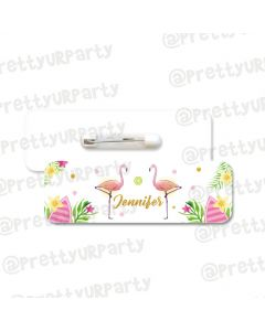 Flamingo Badge / Name Tag