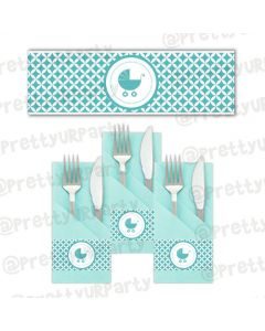 Tiffany baby Shower Theme