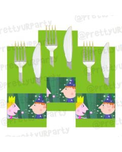 Ben and Holly's Little Kingdom Theme Napkin Rings