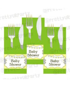 Elephant Baby shower napkin rings