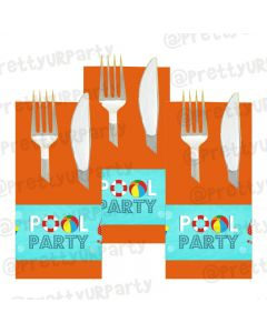 Splash Pool Party Theme Napkin Rings