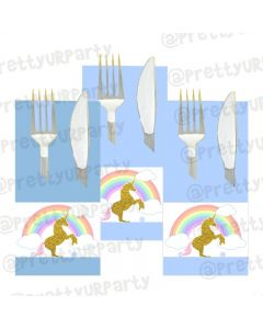 Unicorn Theme Napkin Rings