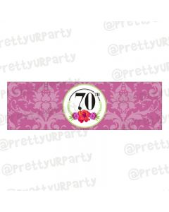 70th Birthday Theme Napkin Rings