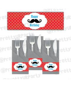 Moustache Napkin Rings
