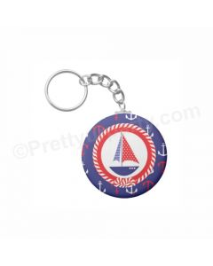 Personalised Nautical Keychain