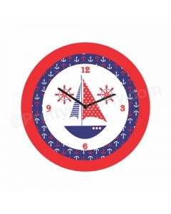 Personalised Nautical Theme Clock - Round