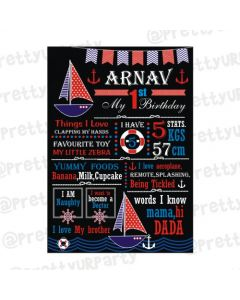 Nautical Theme Chalkboard Poster