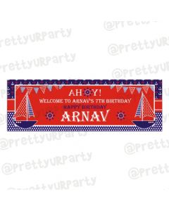 Personalized Nautical Birthday Banner 36in