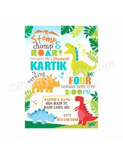 Dinosaur Theme E-Invitations