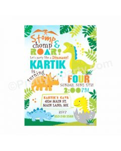Dinosaur Theme Invitations