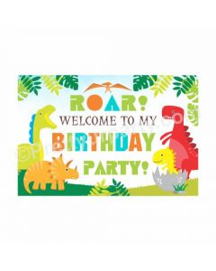 Dinosaur theme welcome banner