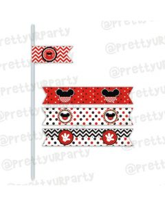 New Mickey Mouse Inspired Drink Straws