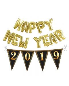 Happy New Year Bunting and Balloon Set