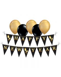 New Year Bunting and Balloon Set