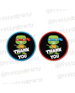 Ninja Turtles Thankyou cards