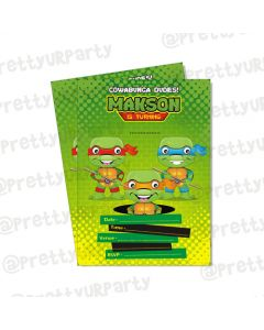 Ninja Turtles Invitations