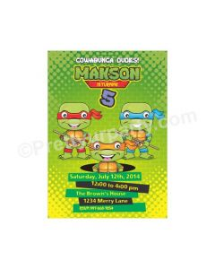 Ninja Turtles Theme E-Invitations