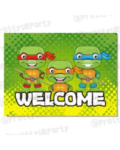 Ninja Turtles welcome banner