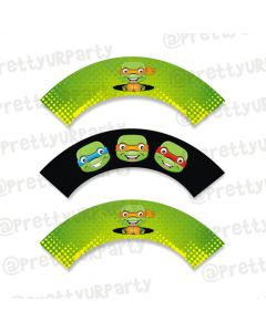 Ninja Turtles cupcake wrappers