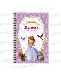 Sofia the 1st Inspired Note Books with coloured Pages