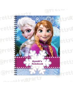 Frozen Inspired Note Books with coloured Pages