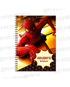 Spiderman Note Books with coloured Pages
