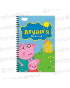 Peppa Pig inspired Note Books with coloured Pages