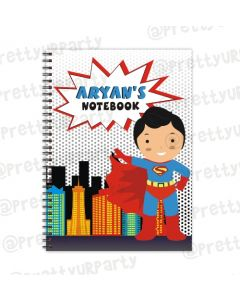 Super hero Note Books with coloured Pages