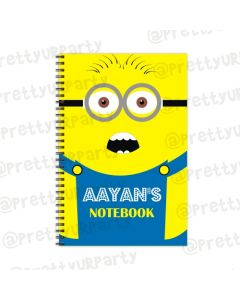 Despicable Me Minions Note Books with coloured Pages