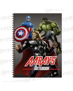 Avengers Inspired Note Books with coloured Pages