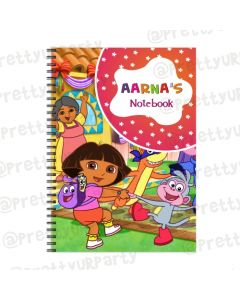 Dora the Explorer Note Books with coloured Pages