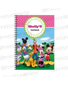 Minnie Mouse Clubhouse Note Books with coloured Pages
