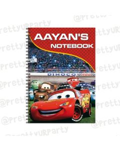 Disney Cars Inspired Note Books with coloured Pages