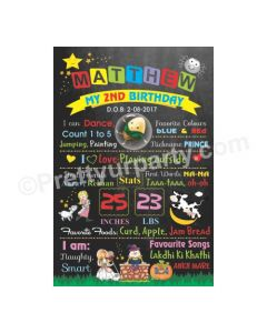 Nursery Rhymes Theme Chalkboard Poster