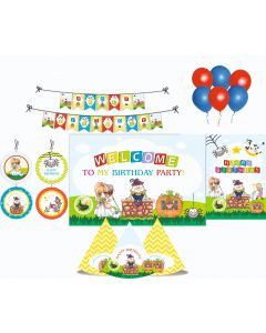 Nursery Rhymes Party Decorations Package - 70 pieces