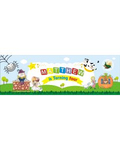 Personalized Nursery Rhyme Birthday Banner 36in