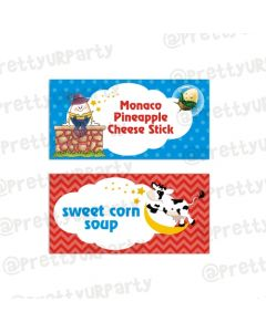 Nursery Rhymes Food Labels