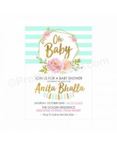 Oh Baby Theme Invitations