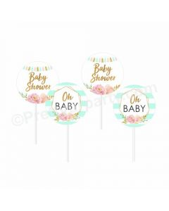 Oh Baby Theme Cupcake / Food Toppers