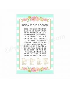 Oh Baby Word Search Game