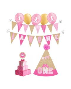 I Am One Birthday Decorations for Girls