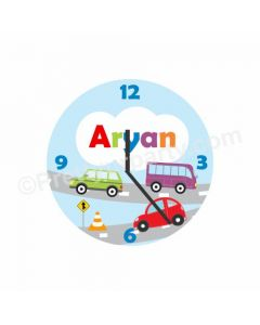 Personalized Cars Clock - Round