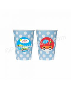 Colorful Cars theme Paper Cups