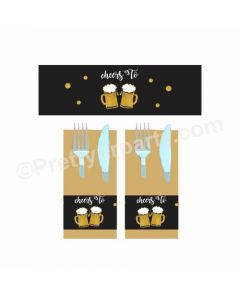 Cheers to 40th Birthday Theme Napkin Rings