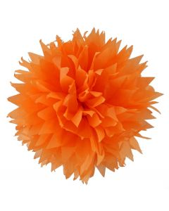 Orange Tissue Paper Pom Poms