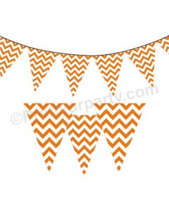 Orange Chevron Bunting