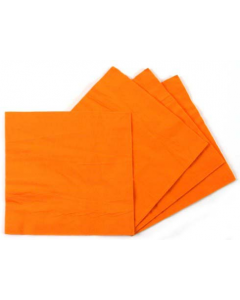 Plain Orange Paper Napkins