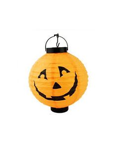 Halloween Orange Paper Lamps